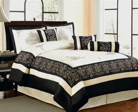 beige and black comforter sets chic home 7 piece comforter sets