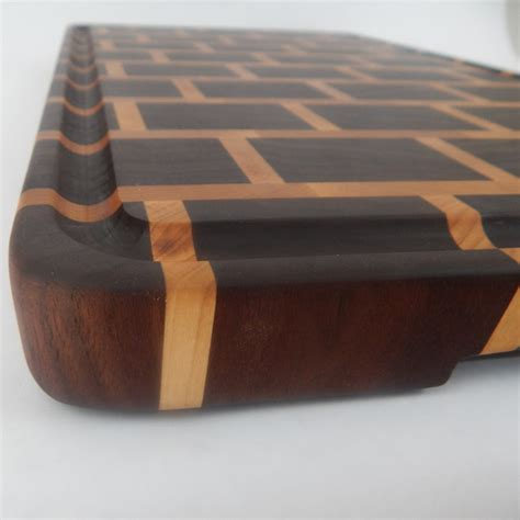 pattern wood cutter handcrafted wood cutting board end grain walnut and maple