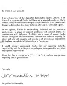 Thank You Letter To Boss For Recommendation Recommendation Letter For Boss Free Cover Letter