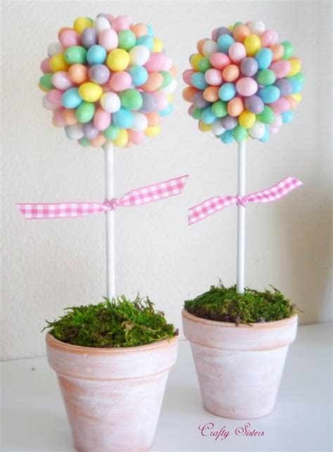 easter centerpiece ideas easter ideas decorate the table with a jelly bean topiary