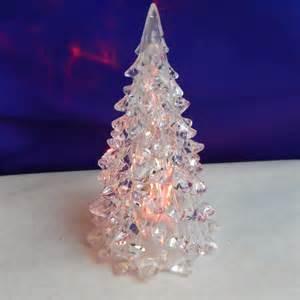 doll house christmas tree acrylic led color changing