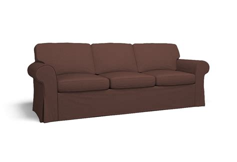 ektorp sofa bed ektorp three seat sofa bed cover polo clay brown by