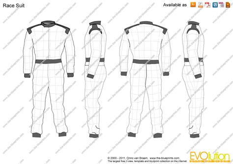 racing suit template the blueprints vector drawing race suit