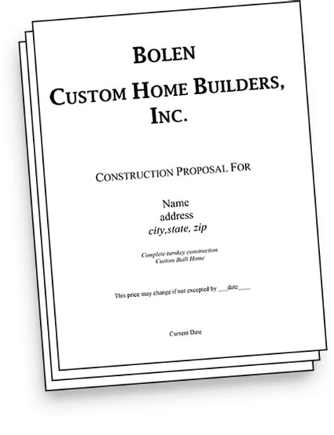 Home Building Contract Template