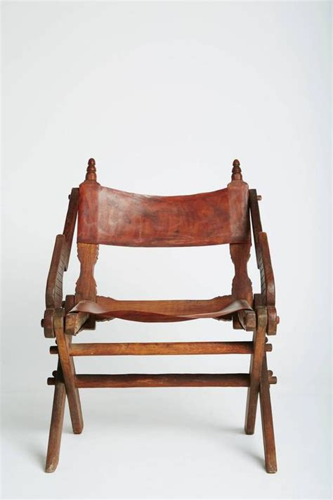 Handmade Mexican Furniture - handcrafted leather and carved wood mexican modern chair