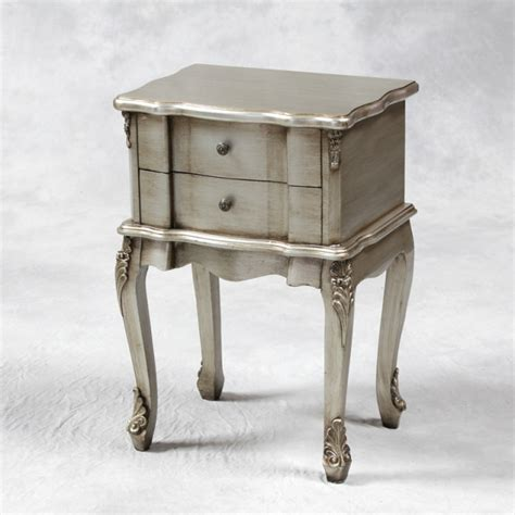 Silver Bedside Table Ls Antique Silver Bedside Table