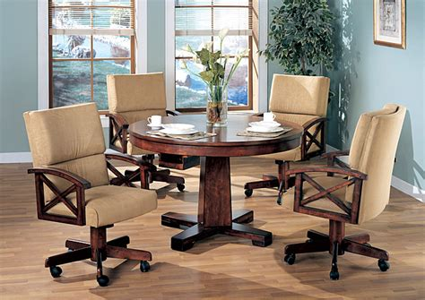 Convertible Dining Room Table by Orleans Furniture Black Oak Convertible Dining Table W 4