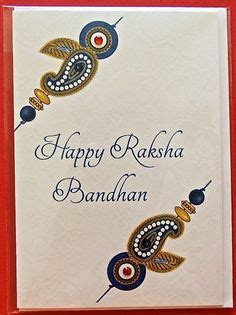 Handmade Greeting Cards For Raksha Bandhan - raksha bandhan raksha bandhan greetings and indian prints