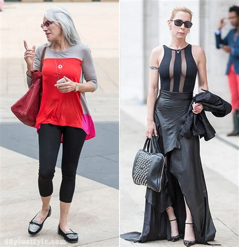 newest fashion for 50 year women pictures streetstyle at new york fashion week as worn by 40 women