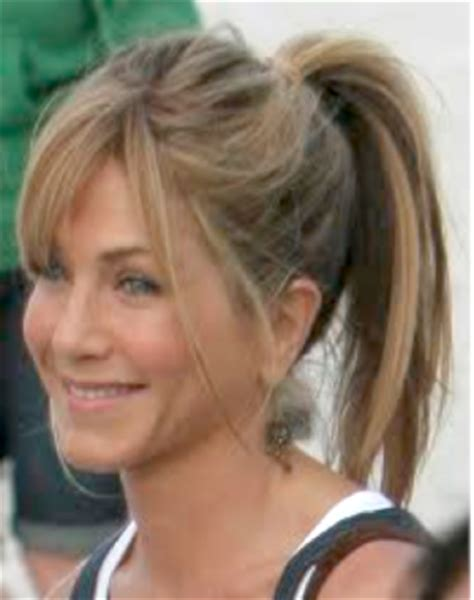 pony tail with fringes back gym hairstyle trends how to get the sock bun low side