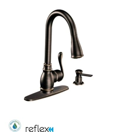 single handle kitchen faucet with pullout spray moen ca87003brb mediterranean bronze single handle kitchen