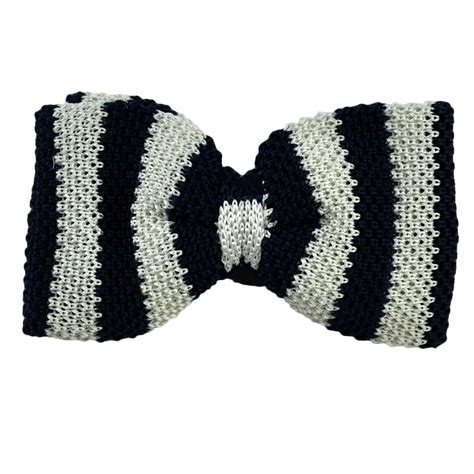 knitted silk bow tie navy blue white striped knitted silk bow tie from ties
