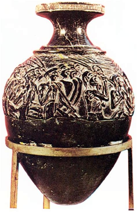 Harvester Vase by Archaeology Minoan Sculpture In The Late