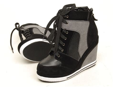 details about wedge high heels high top sneakers