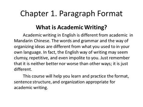 Paragraph And Academic Writing by Advanced Writing Ppt