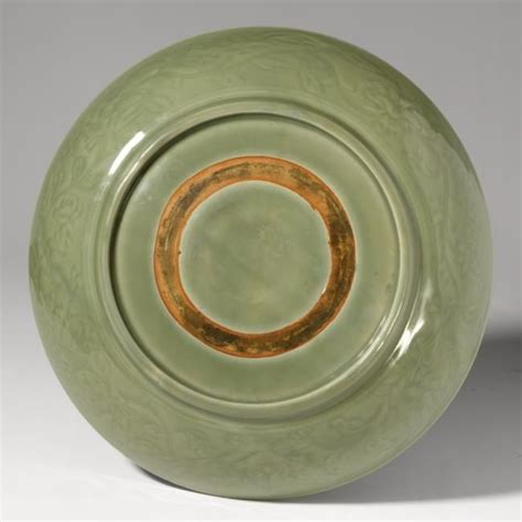 an imperial longquan celadon dish ming dynasty yongle
