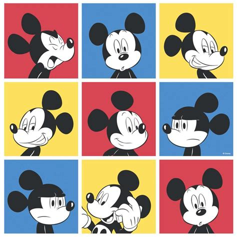 Karpet Bulu Motif Mickey Minnie disney mickey mouse pop pattern childrens wallpaper blue ebay