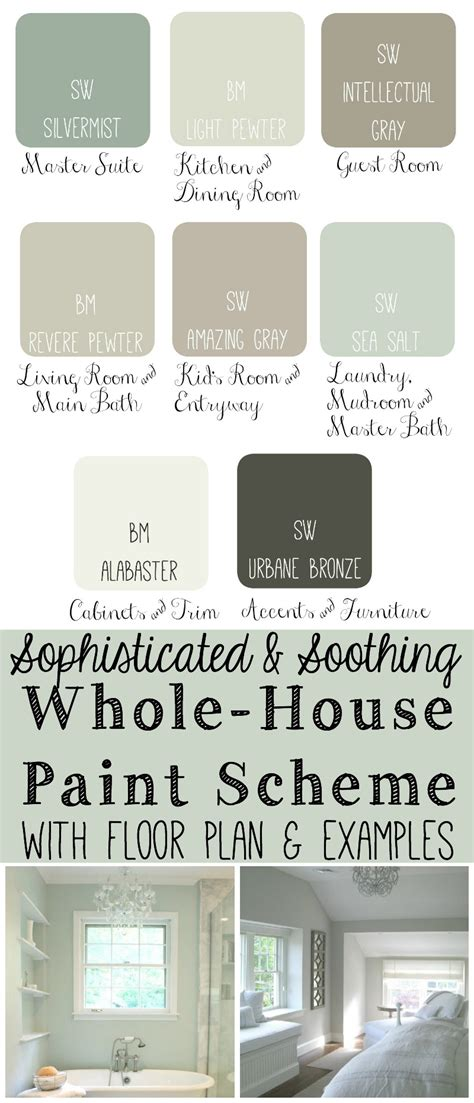 today i put together a whole house paint scheme i like to see how all the colors would look