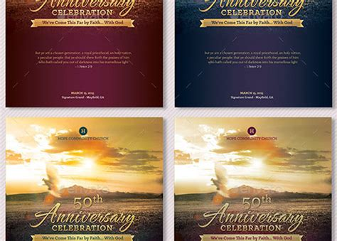 Church Anniversary Program Large Godserv Market Church Anniversary Program Template
