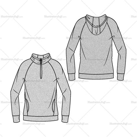 Jaket Sweater Hoodie Hoodie By Nature Home Cloth s drawstring hoodie fashion flat template