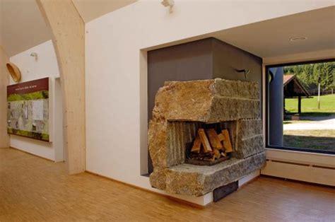 bau eines stein kamins naturstein am bau treppen b 228 der k 252 chen