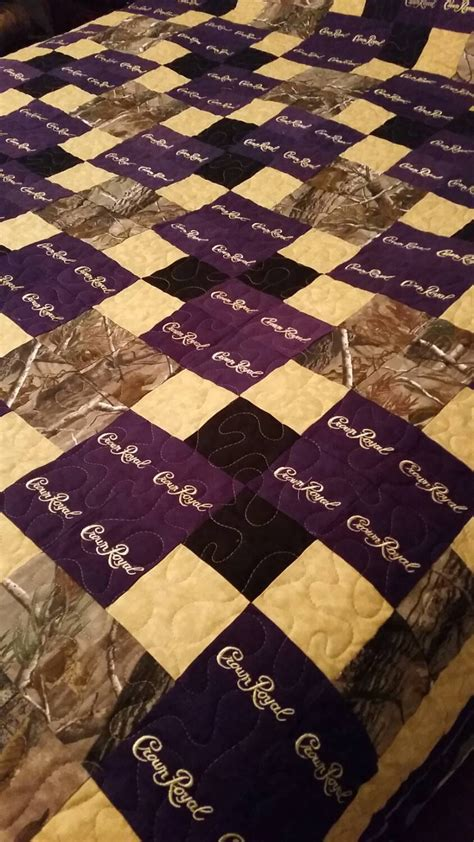 A Quilt Made by Crown Royal Quilt Custom Made To Order Crown Royal Quilt