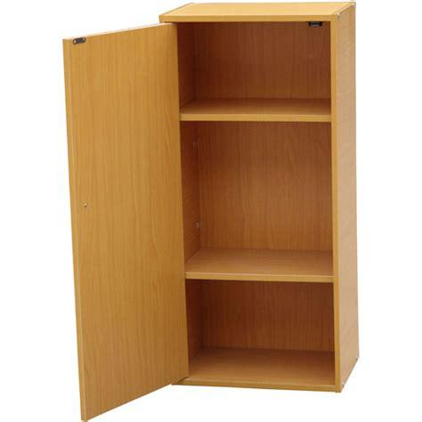 Walmart 3 Shelf Bookcase Closed Door 3 Shelf Bookcase Natural Walmart Com