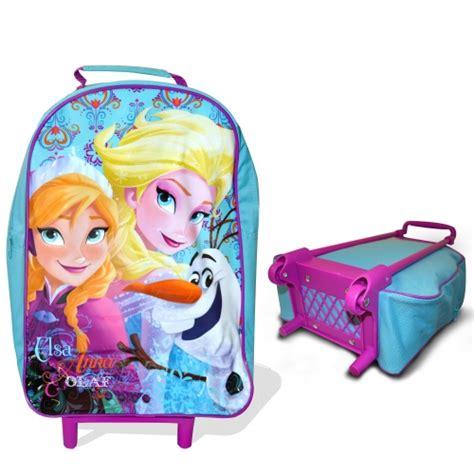 Murahfrozen Backpack Original Disney Usa disney frozen nordic school travel trolley roller wheeled bag ebay