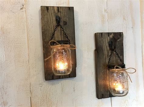 kerze wand candle holders rustic candle holders candles jar