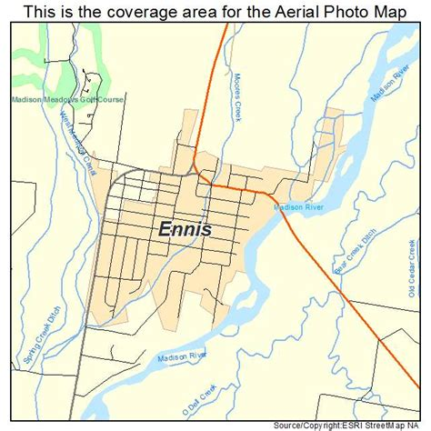 map of ennis aerial photography map of ennis mt montana