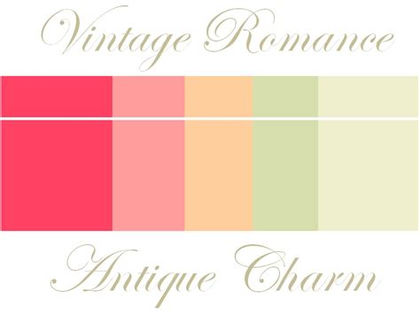romantic color schemes vintage wedding color palette of soft peaches and pinks