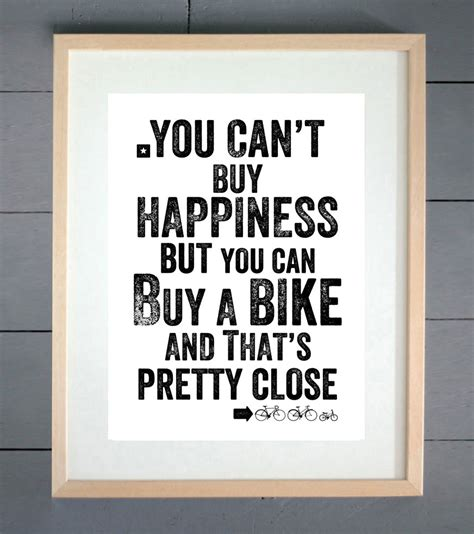 buy cycling cycling prints you can t buy happiness cycling print