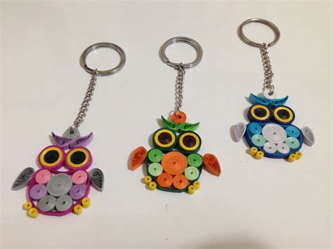 paper quilling keychain tutorial paper quilling quilling owl tutorial doovi