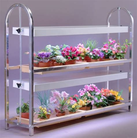 indoor plant stand with grow light greenhouse accessories advance greenhouses