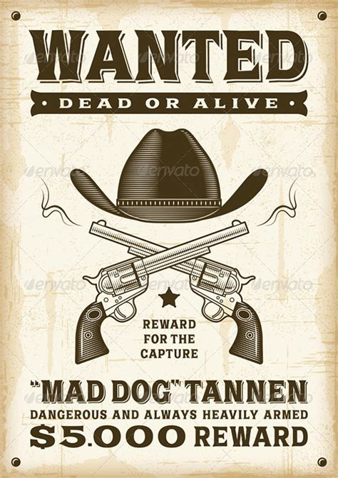 19 Western Wanted Poster Templates Free Printable Western Wanted Poster Template