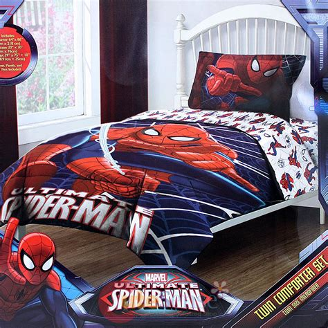 marvel twin bedding marvel ultimate spiderman 3pc twin bedding comforter set w