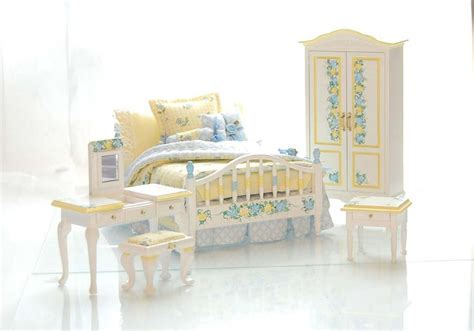 pastel bedroom furniture yellow blue pastel dollhouse miniature victorian bedroom