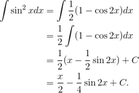 sin city 2 integral how to integrate math sin 2 x math quora