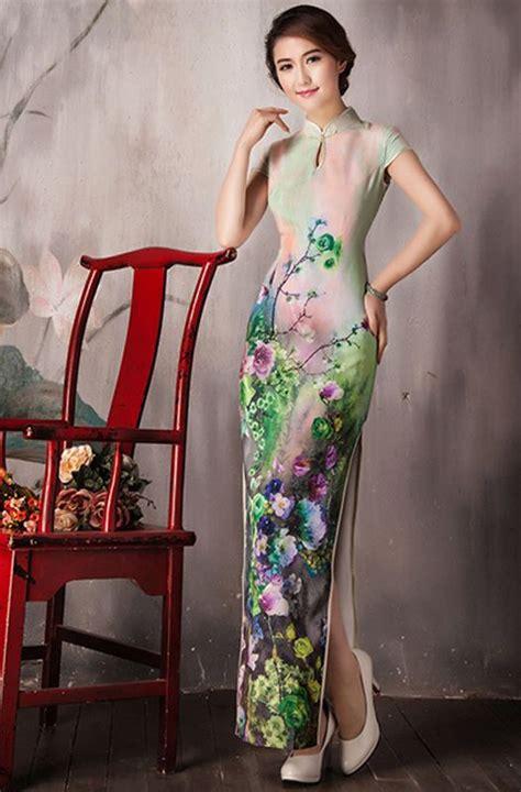 Sleeve Cheongsam cap sleeve green cheongsam traditional dress