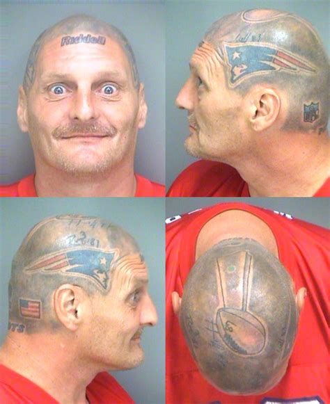 tom brady tattoo fugitive tom brady superfan arrested on warrant but bonds