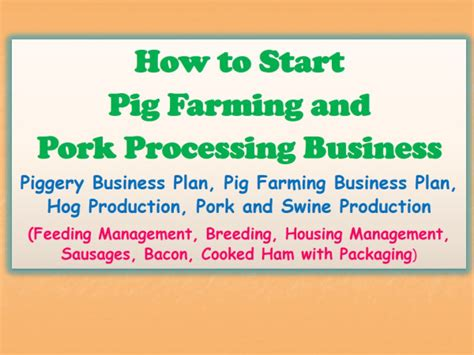 Sle Business Plan On Pig Farming | piggery business plan websitereports196 web fc2 com