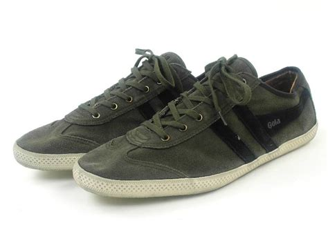Gola Shoes Original gola trainers shoes quince green black leather vintage new