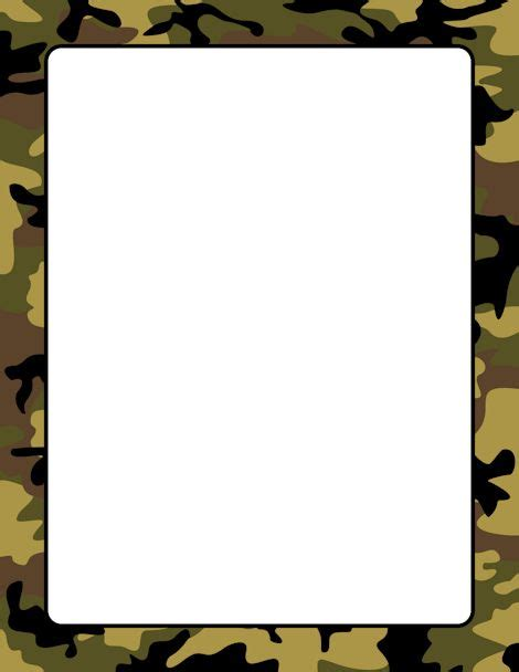 free printable army stationery paper camouflage page border free downloads at http