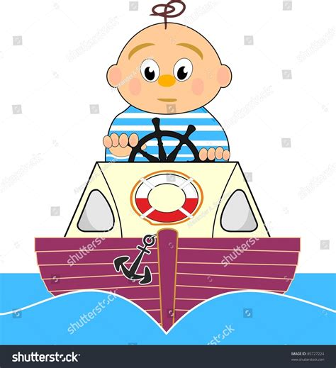 lifeguard motor boat sailor boy vector stock vector - Lifeguard Boat Clipart