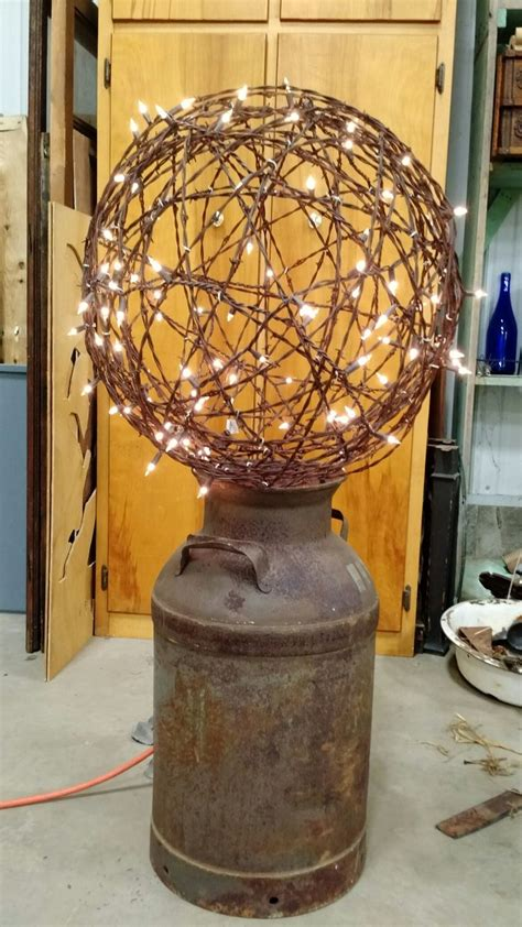 lighted barbed wire ball barbed wire decor barbed wire