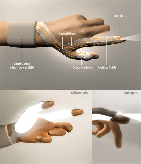 work gloves with lights fiber optics light glove designboom com