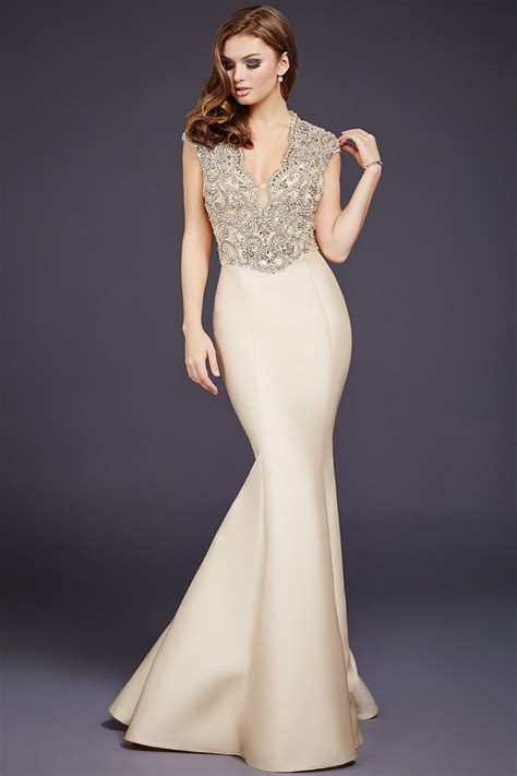Lace Mermaid Evening Gown chagne mermaid lace top dress 40322 evening dresses
