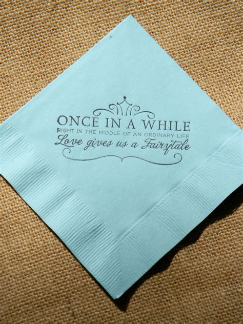 Wedding Napkins by Fairytale Light Blue Paper Wedding Cocktail Napkins
