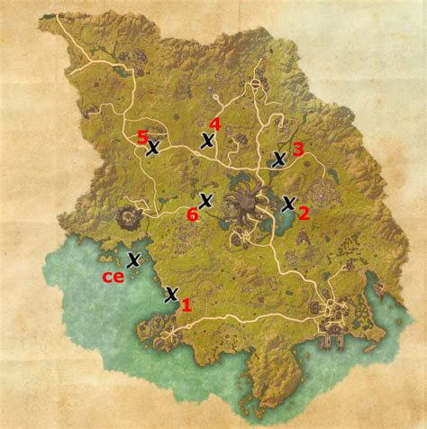coldharbour ce treasure map grahtwood treasure map locations elder scrolls guides