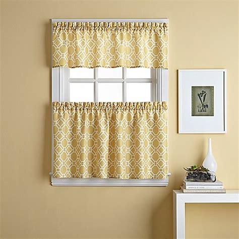 bathroom tier curtains buy cabana trellis 24 inch window curtain tier pair from